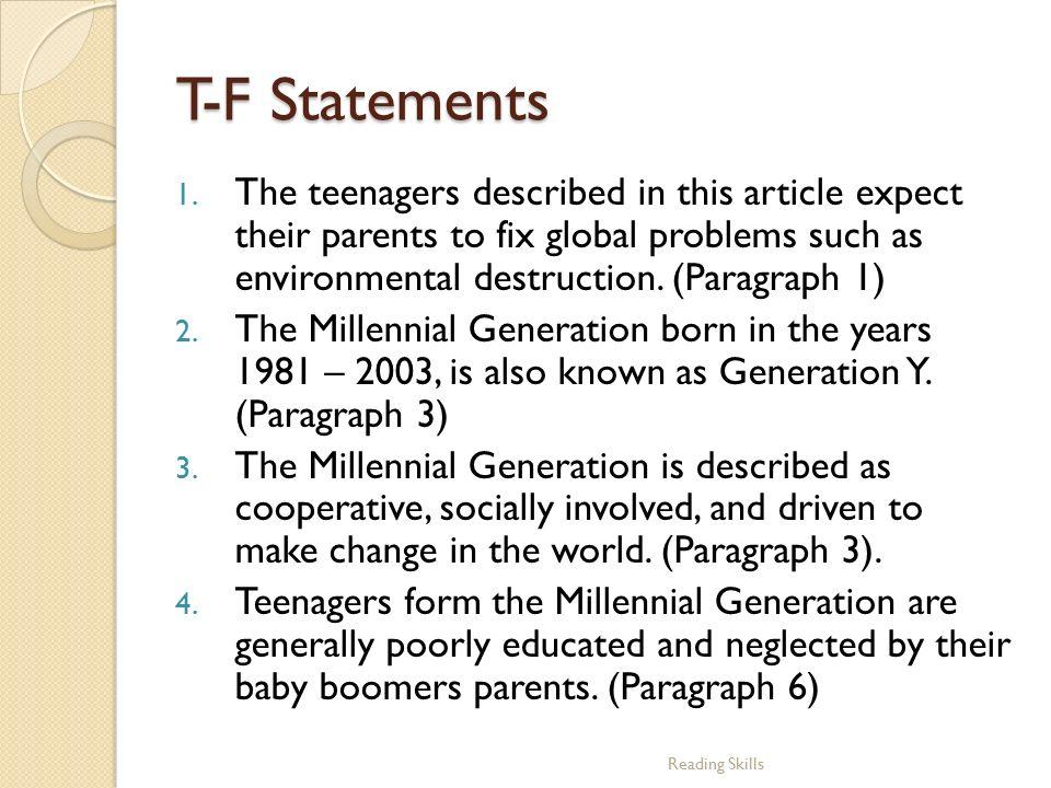 generation y problems