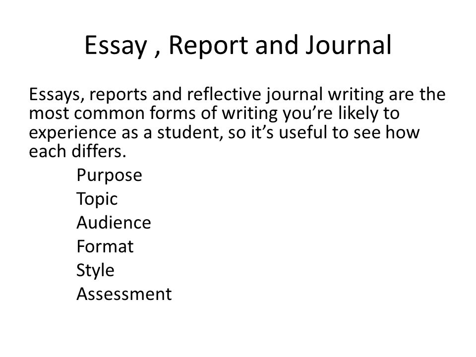 Journal Essay Examples