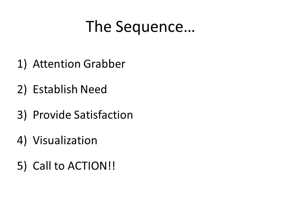 Monroe's Motivated Sequence A Project for SPCH 1300 Students. - ppt ...