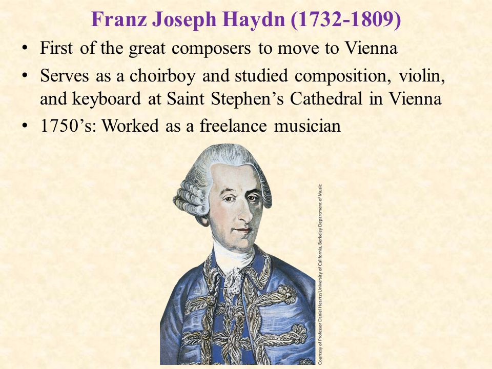 a biography of franz joseph haydn a composer during the classical era