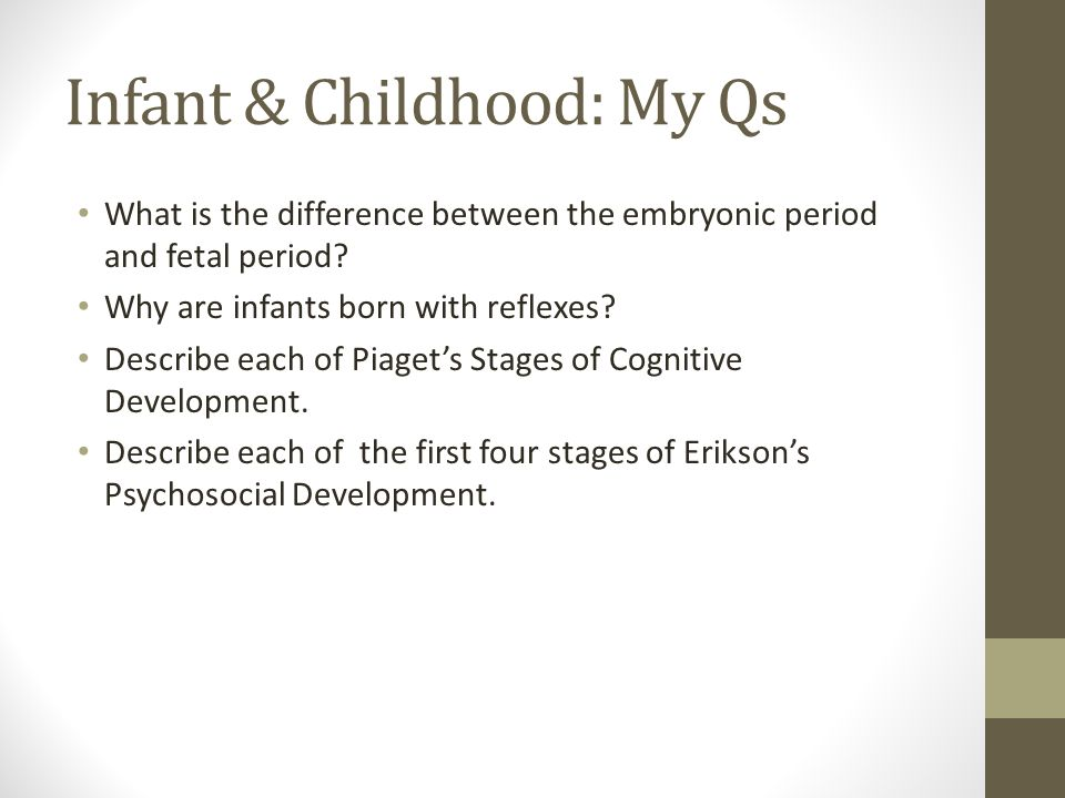 cognitive development of an infant and Cognitive development is the process by which the brain develops the abilities to learn and remember cognitive development follows.
