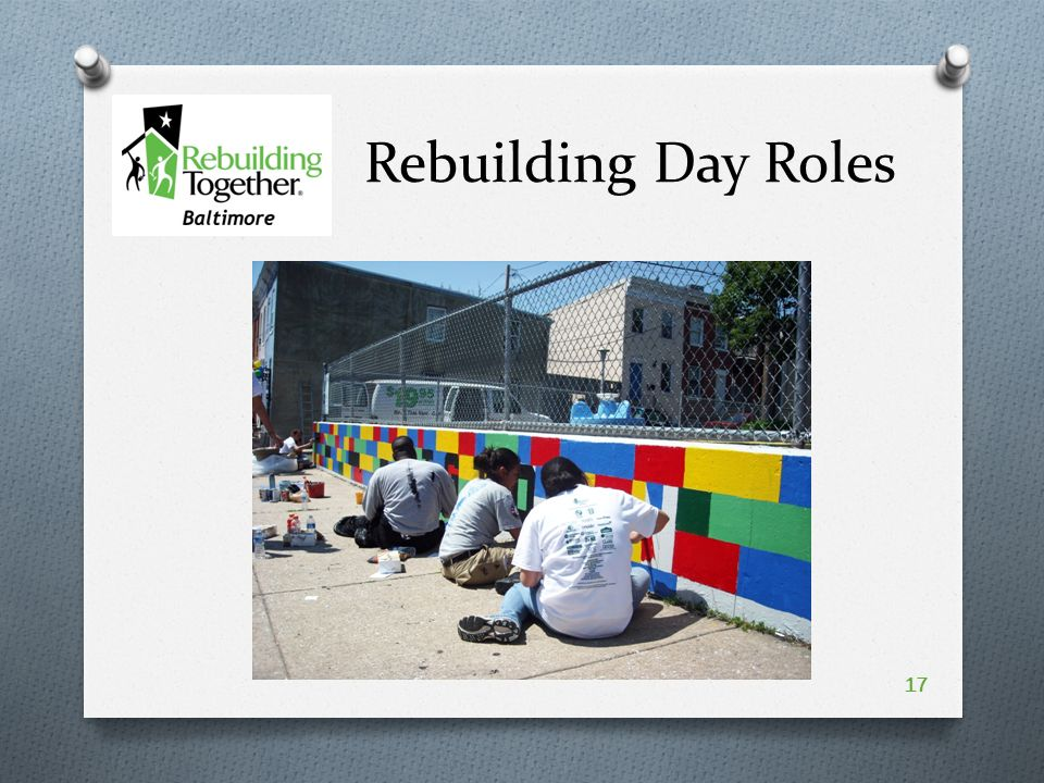 Rebuilding Day Roles 17