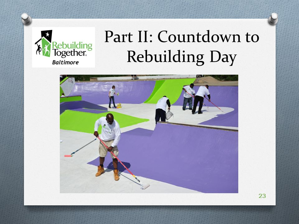 Part II: Countdown to Rebuilding Day 23