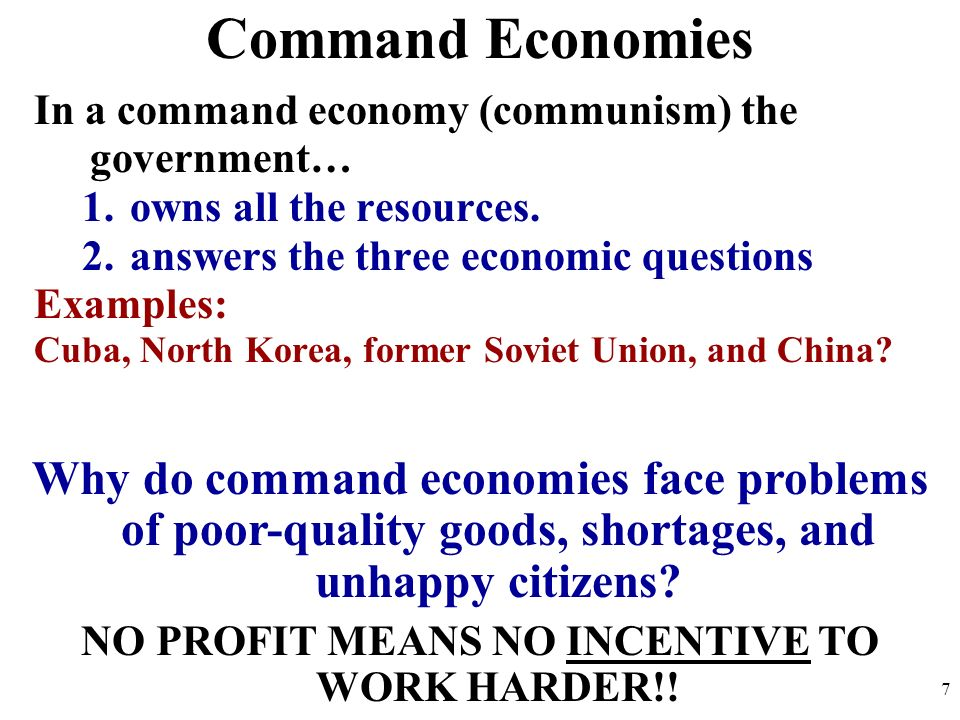 defining capitalism and command economies essay Capitalism and socialism are formal economies that differ based on the role of the government and equality of economics capitalism affords economic freedom, consumer choice, and economic growth.