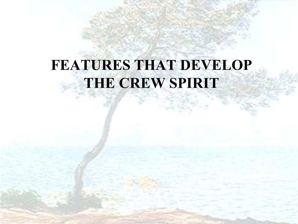 FEATURES THAT DEVELOP THE CREW SPIRIT