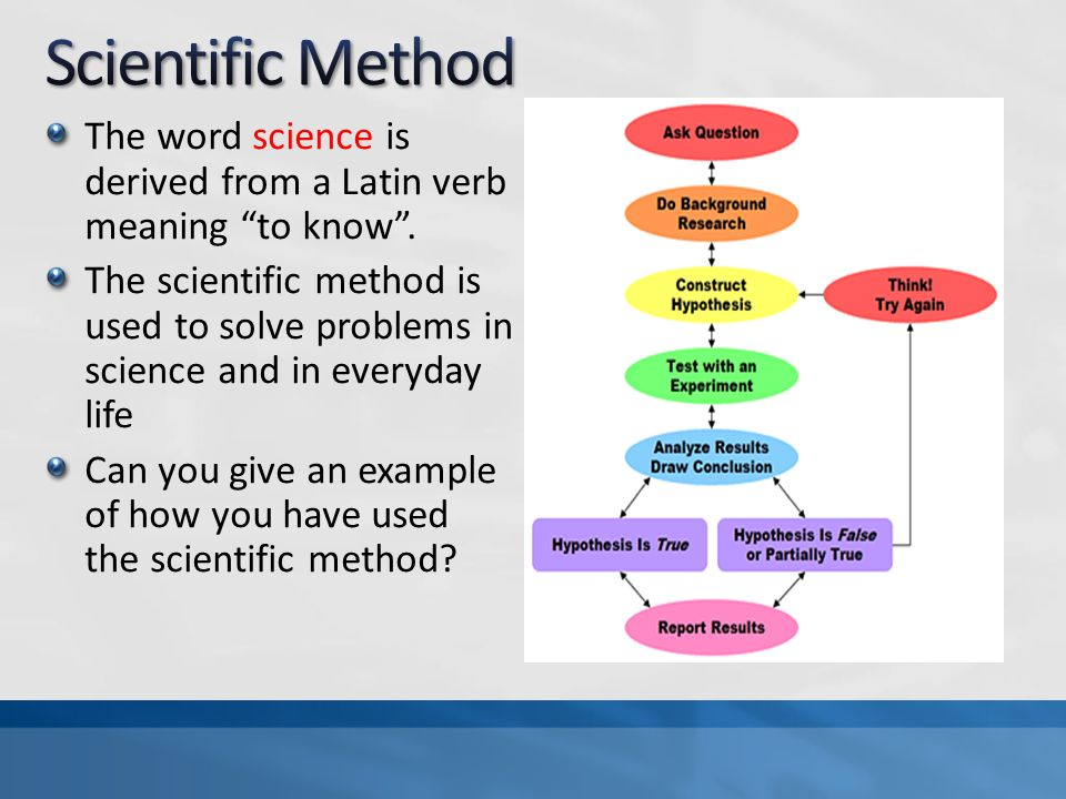 Can a problem be solved by the scientific method