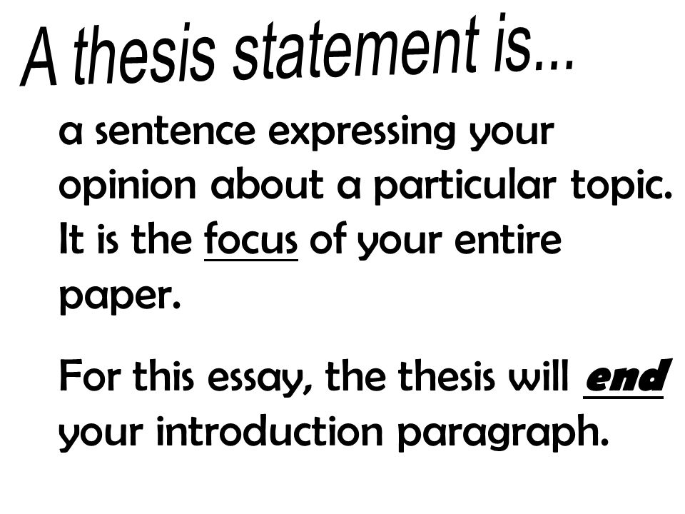 How do you start an essay on a particular topic?