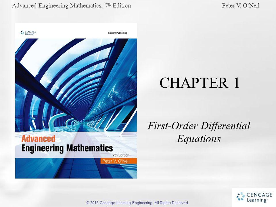 Advanced Engineering Mathematics, 7 th Edition Peter V.