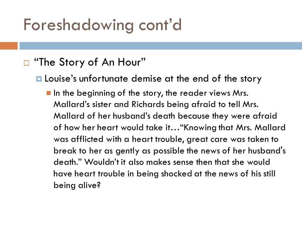 """the exodus of louise mallard in the story of an hour by kate chopin Free essay: in 1894, kate chopin wrote """"the story of an hour"""" the story is about a young woman, named mrs louise mallard, whose husband died in a railroad."""