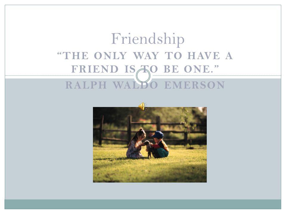 essay friendship by emerson