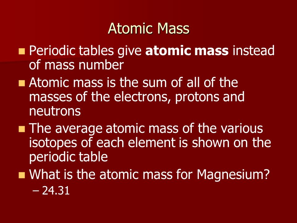 Physical science 513 unit atoms and elements ppt download 9 atomic mass periodic tables urtaz Images