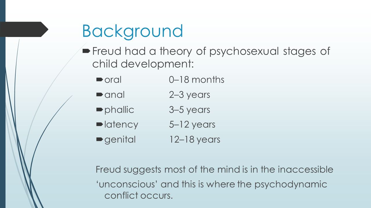 an analysis of the psychosexual development into five stages