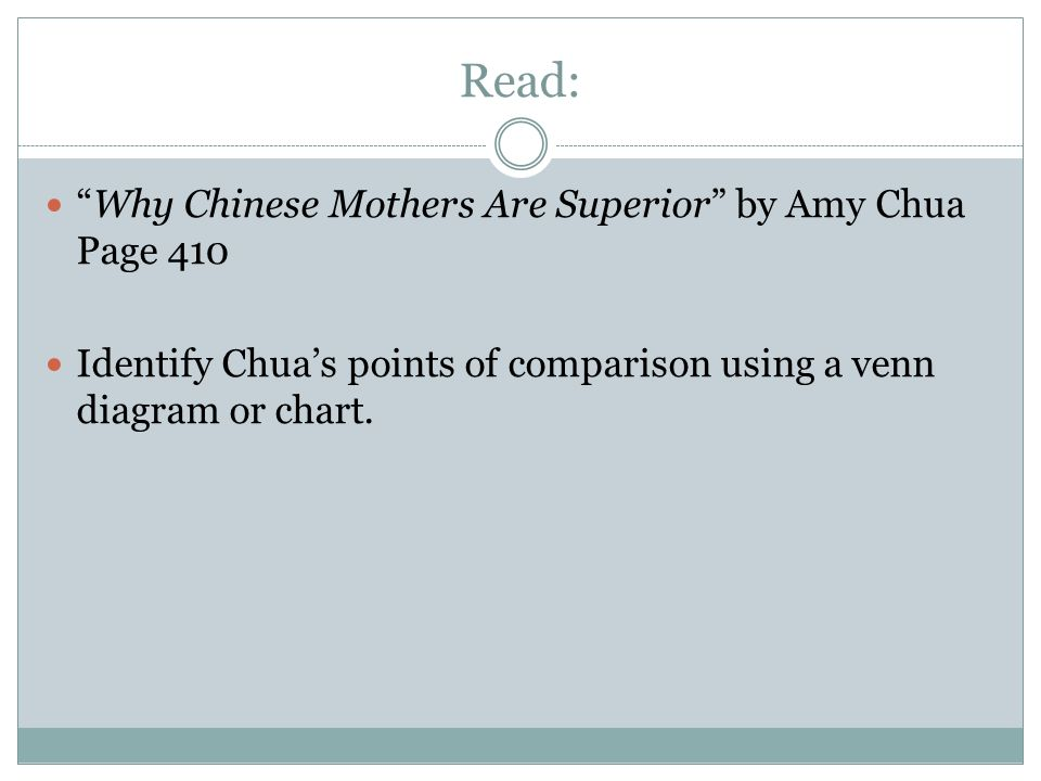 engelsk essay why chinese mothers are superior