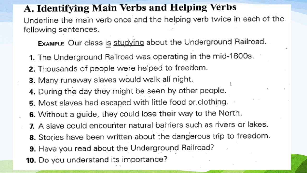 Finding Helping Verbs Worksheets | Englishlinx.com Board ...