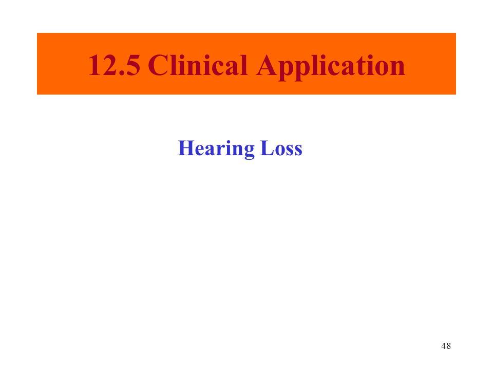 48 12.5 Clinical Application Hearing Loss