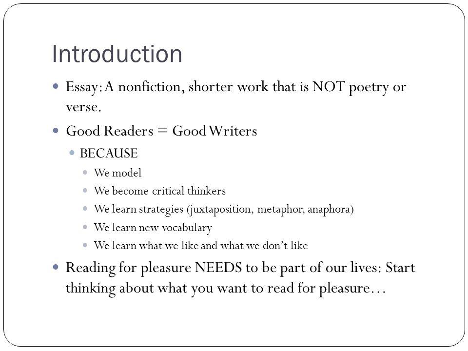 write essay non fiction