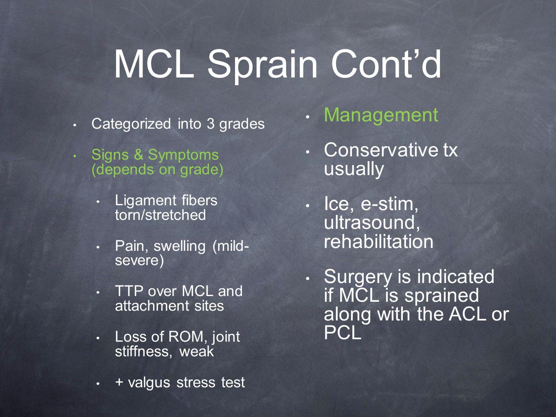 Grade 2 mcl sprain symptoms - 8 Mcl
