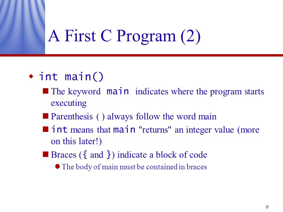 c more first program