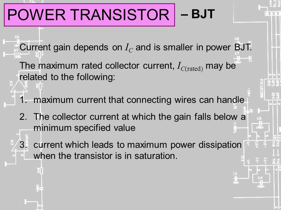 EMT 112 / 4 ANALOGUE ELECTRONICS Self-Reading Power Transistor – BJT ...