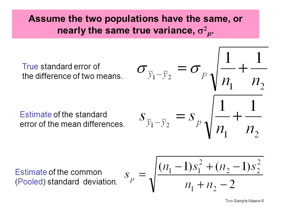 Two-Sample-Means-1 Two Independent Populations (Chapter 6) Develop ...