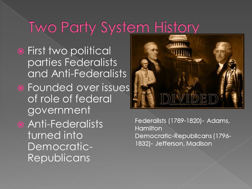 characteristics jeffersonian republicans and federalists The characterization of the jeffersonian republicans was a strict construction that was opposed to the broad constructionism of the federalists in terms of rights and politics.