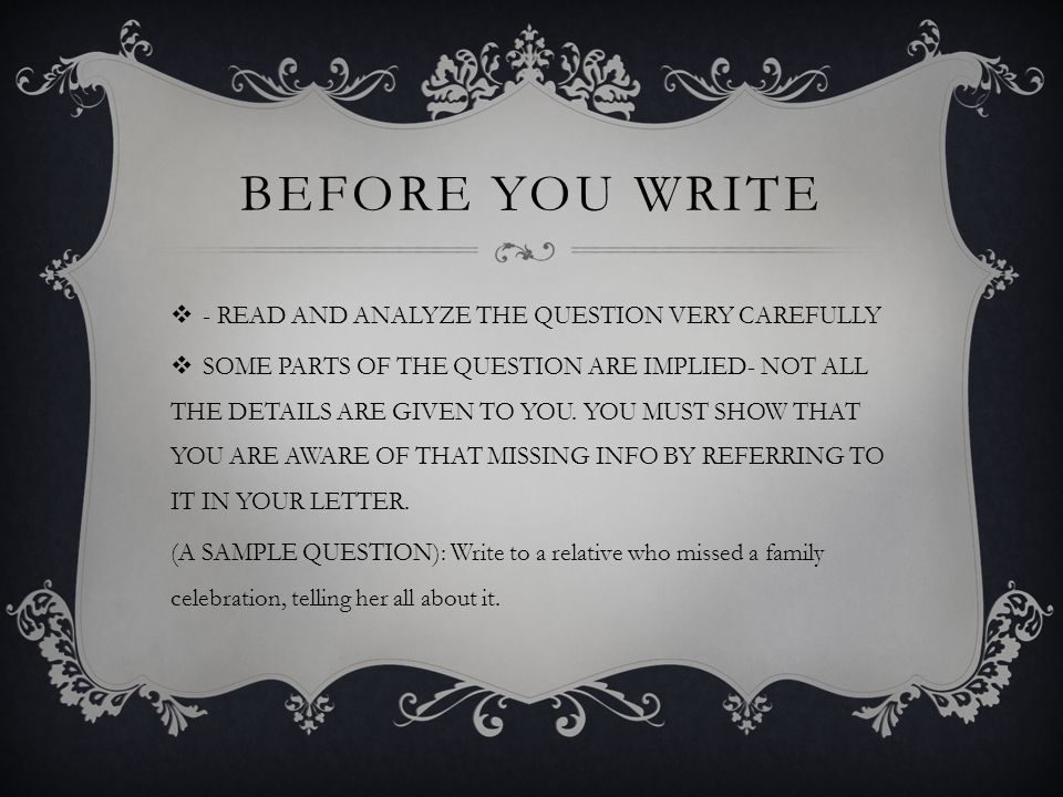 Friendly letters informal letters before you write read and before you write read and analyze the question very carefully some parts of spiritdancerdesigns Image collections