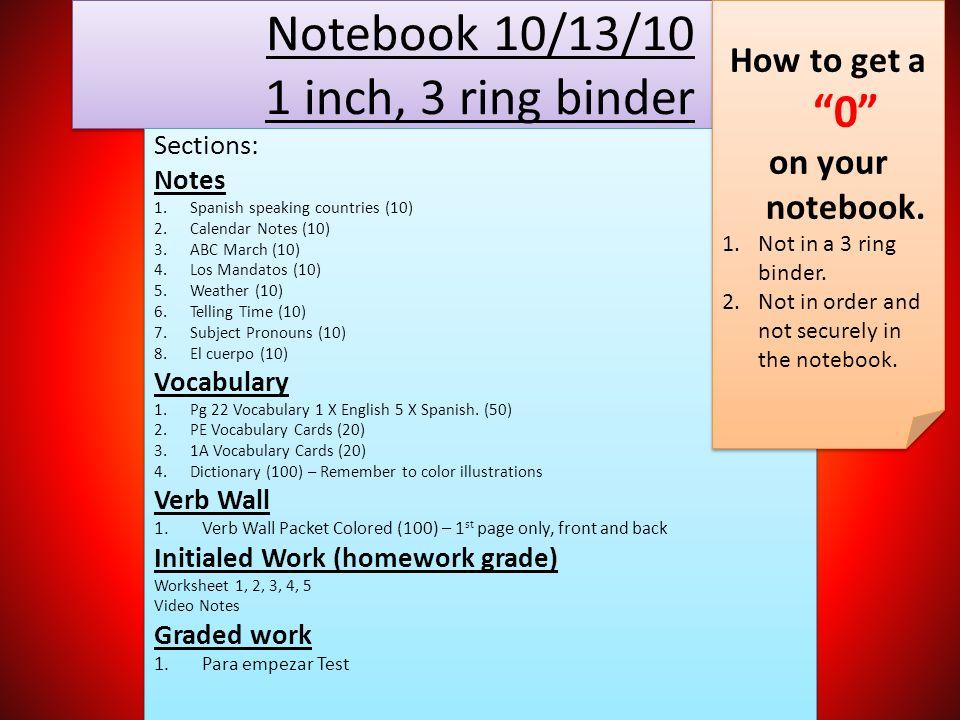 3 notebook 1 inch 3 ring binder