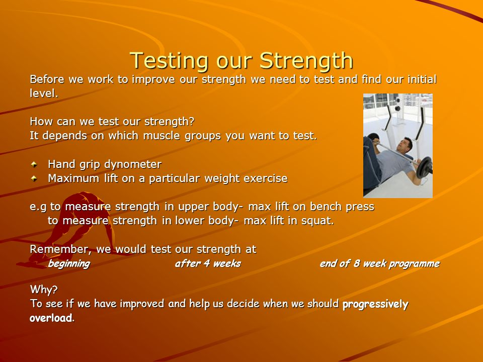 Principles of Training We improve our fitness through training  We