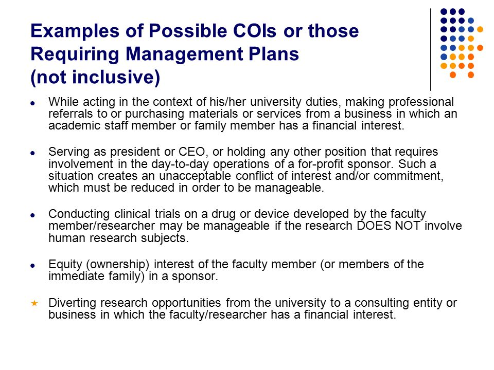 Coi 101 what is conflict of interest and how can it affect you 4 while pronofoot35fo Images