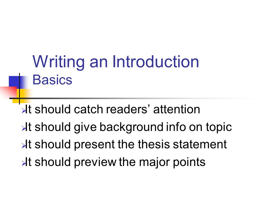 writing an introduction and thesis statement Introductions in order for the first paragraph of an essay to actually be a proper introduction (in other words, for it to fulfill the requirements of a proper introduction), it must do two things.