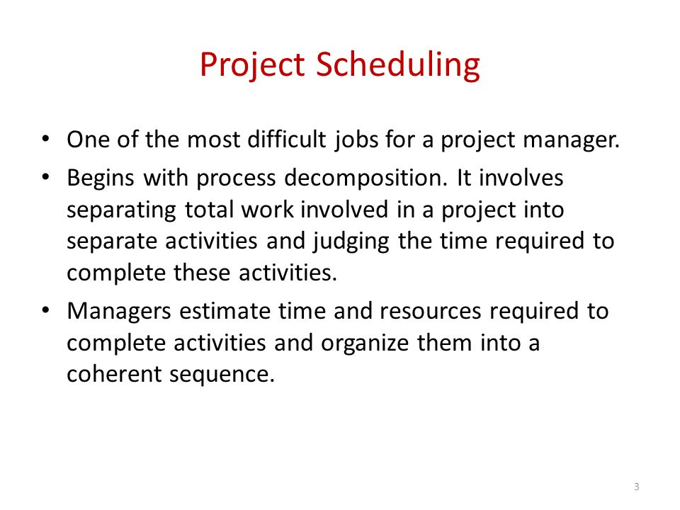Software Engineering (CSI 321) Project Scheduling ppt download