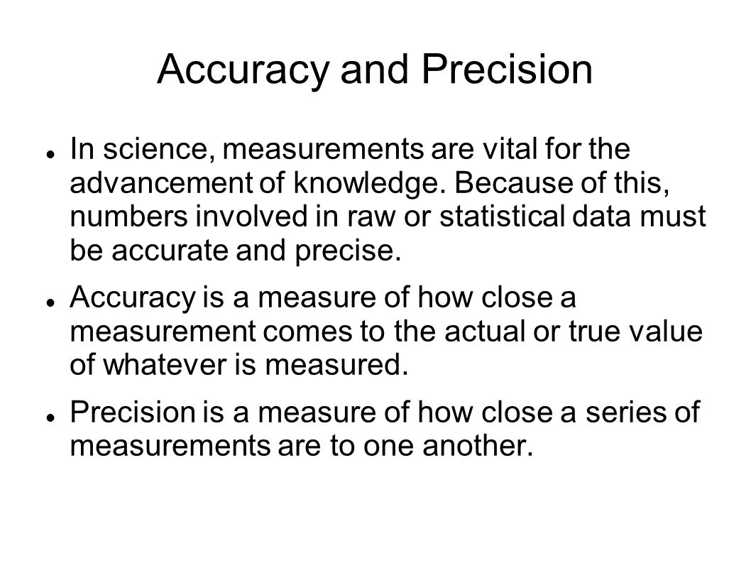 Chemistry accuracy and precision worksheet answers