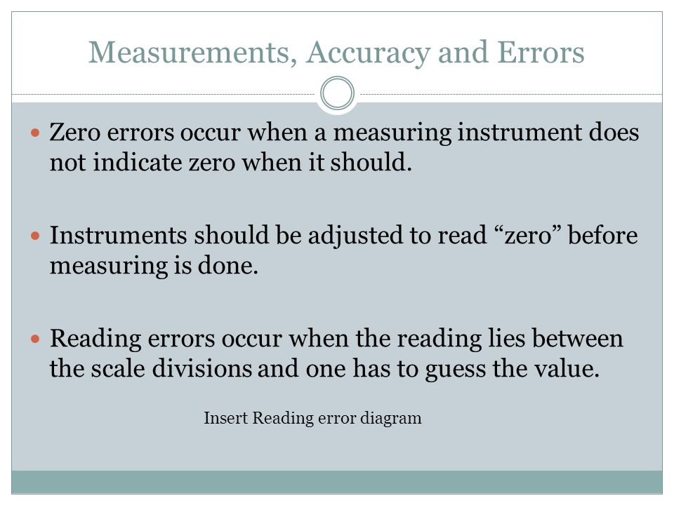 Unit 1 introduction to physics measurements accuracy and errors measurements accuracy and errors zero errors occur when a measuring instrument does not indicate zero ccuart Image collections