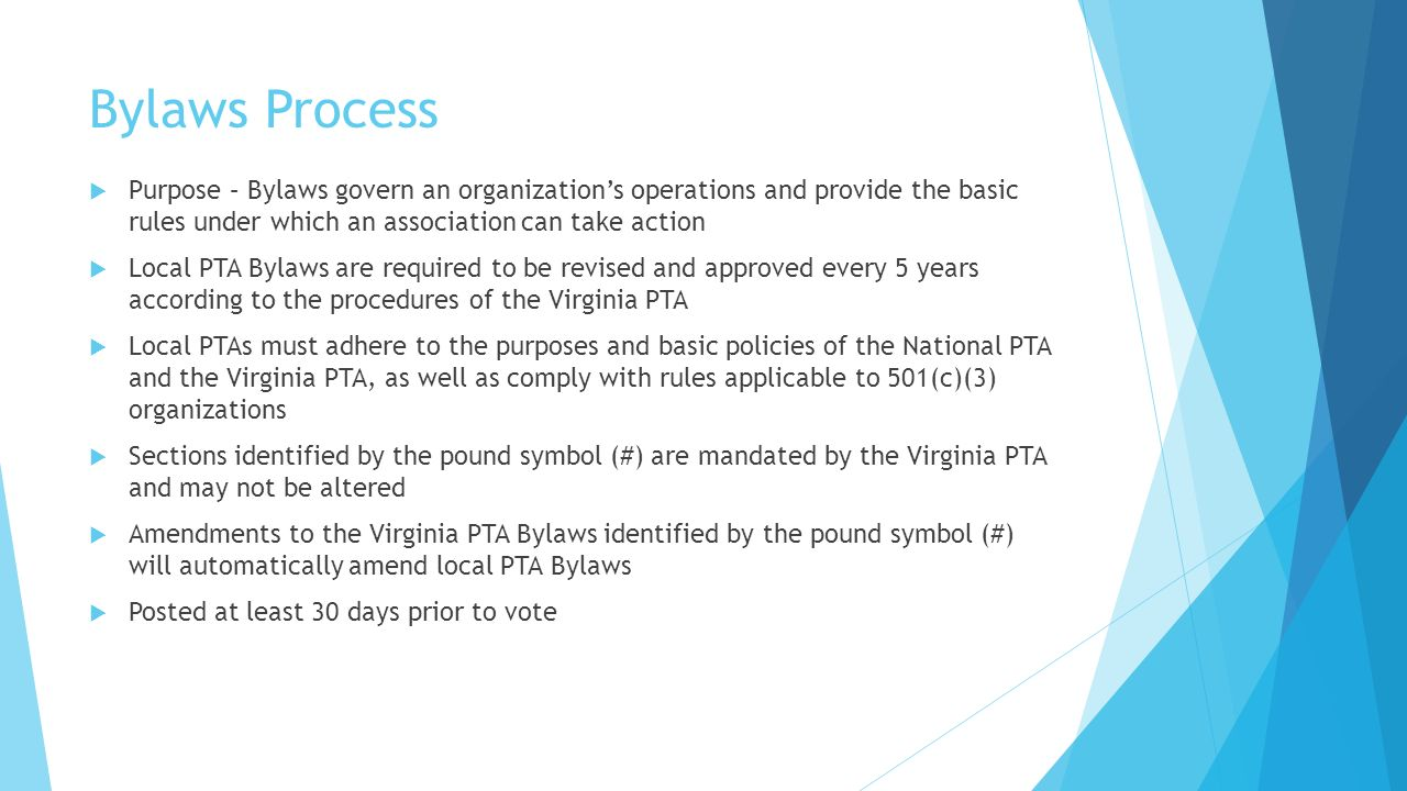 Churchill Road PTA Bylaws & Organization ppt download