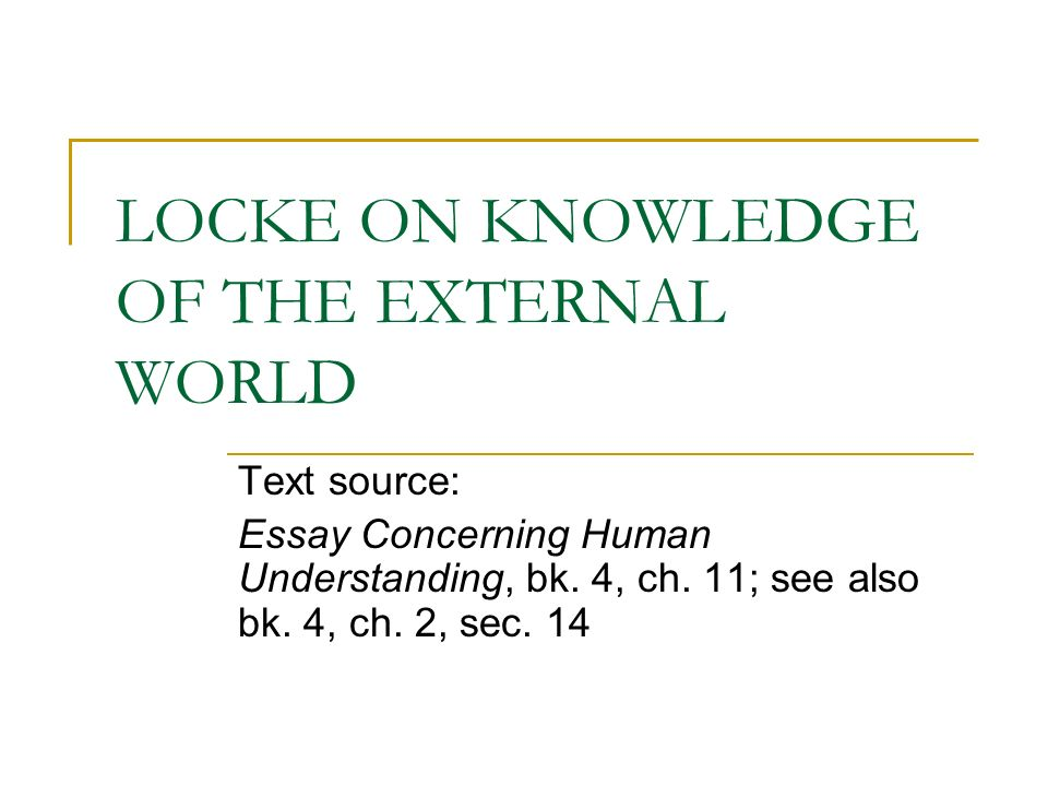 The Works of John Locke  vol     An Essay concerning Human        Method