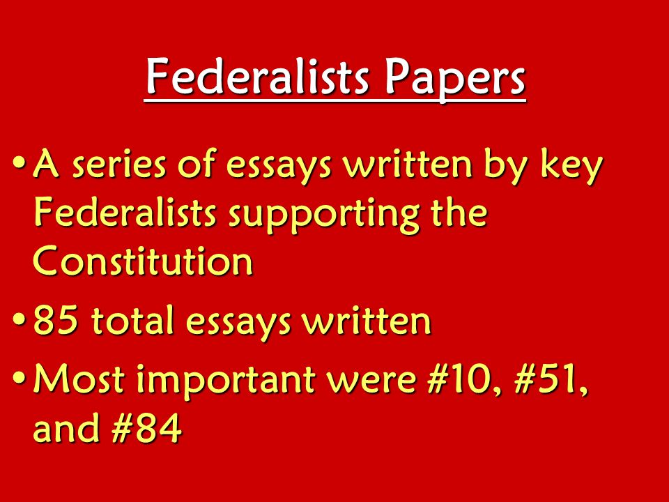 federalism essays Read this religion essay and over 88,000 other research documents federalism introduction to federalism federalism is the.