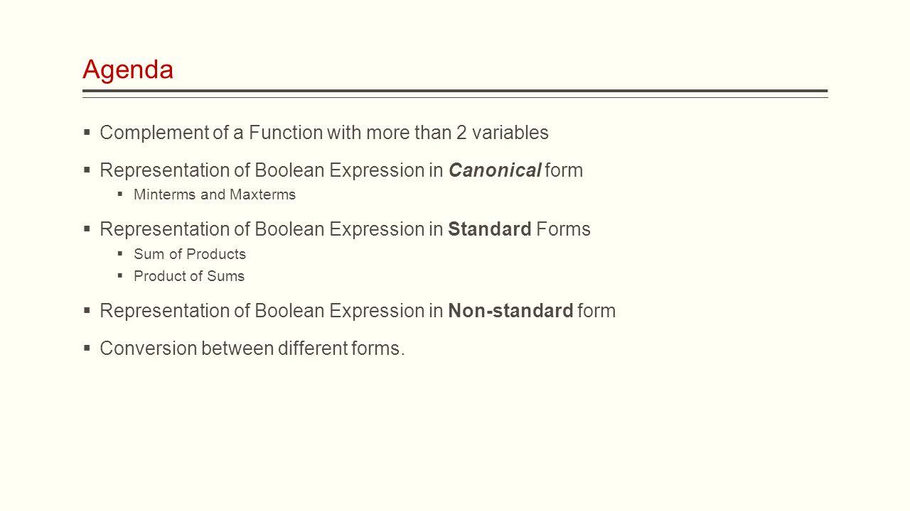 Ece digital logic lecture 8 boolean functions assistant prof 3 agenda complement falaconquin