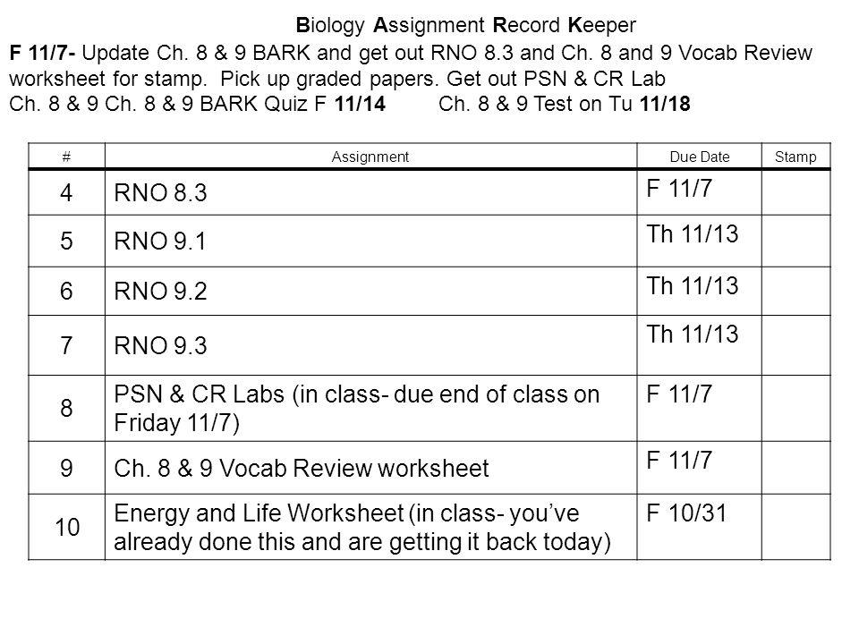 Biology Assignment