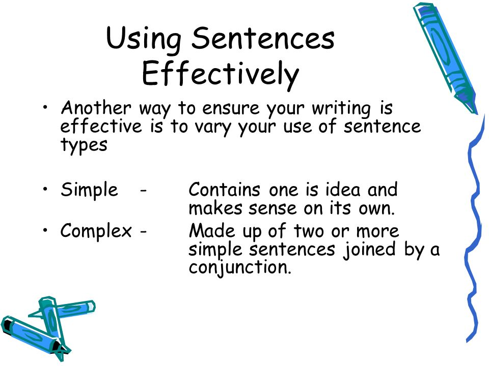 Creative Writing Sentences