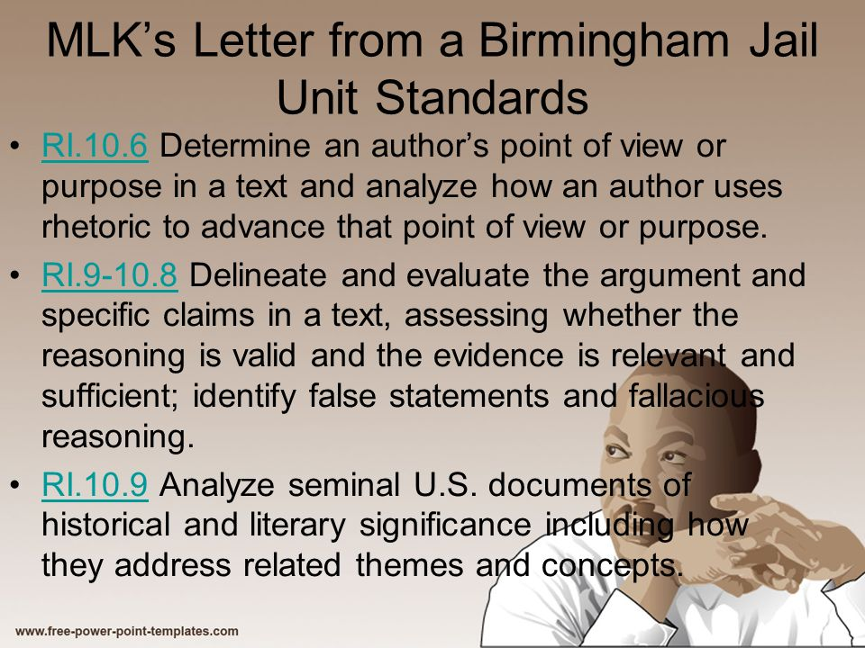 literary analysis of letter from birmingham jail