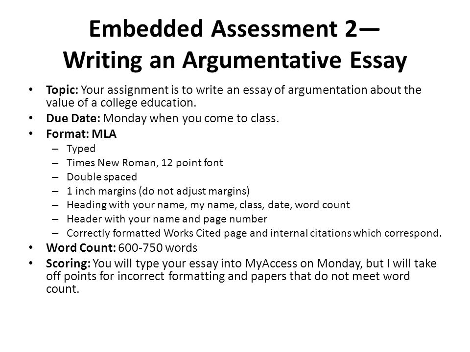 Topics Of An Argumentative Essay