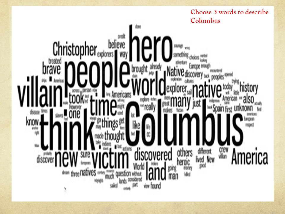 columbus hero or villain choose words to describe columbus  columbus hero or villain choose 3 words to describe columbus