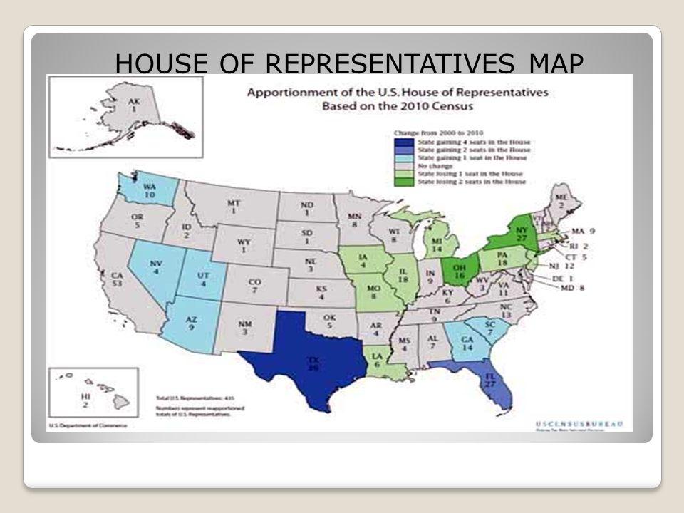 Legislative Branch The House Of Representatives The Senate Ppt - Us house of representatives map