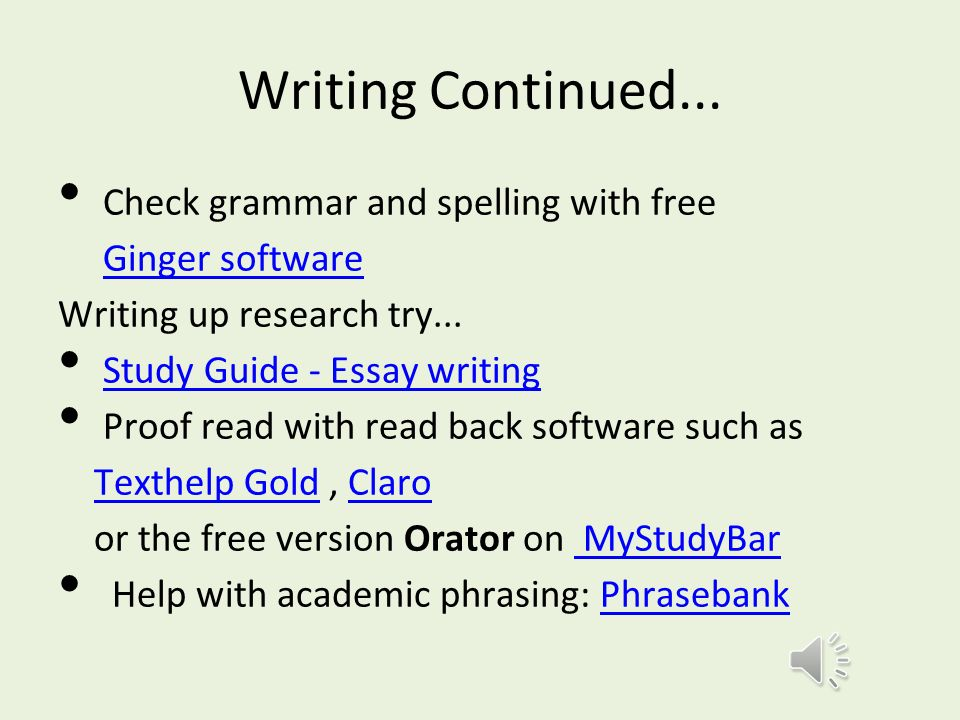 this resource will ○offer study skills tips ○direct you to  8 writing
