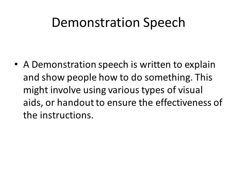 make thesis demonstration speech