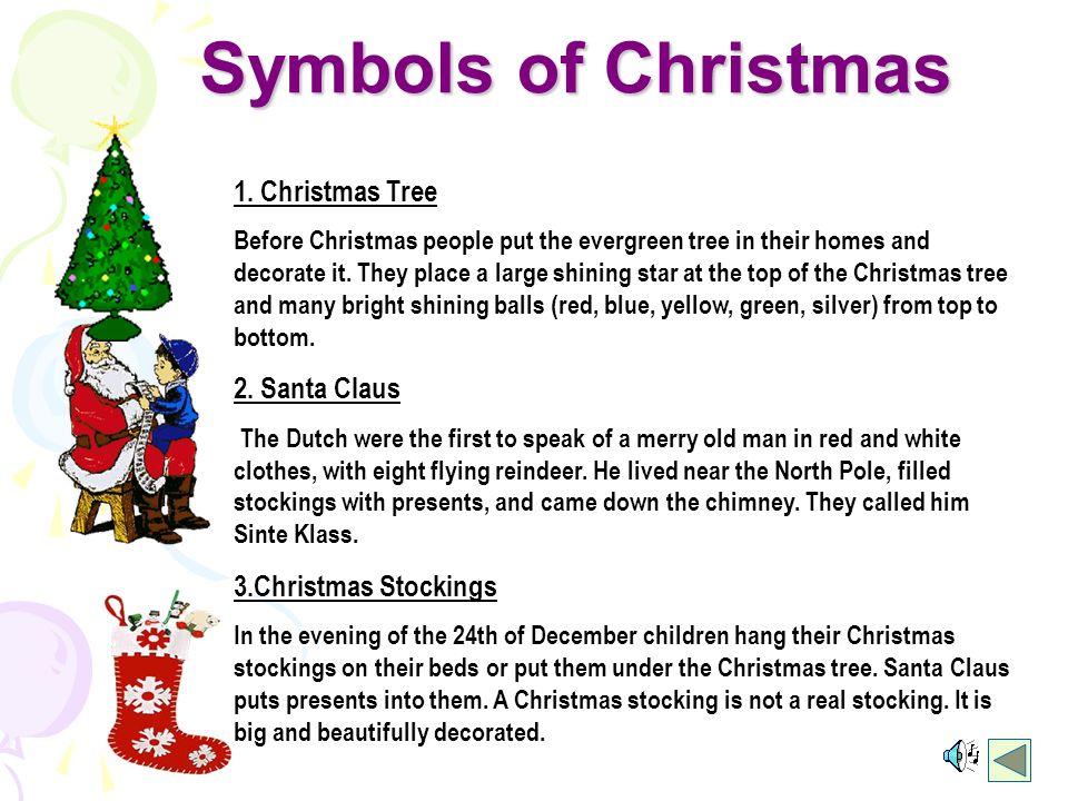 Symbols of Christmas 1.