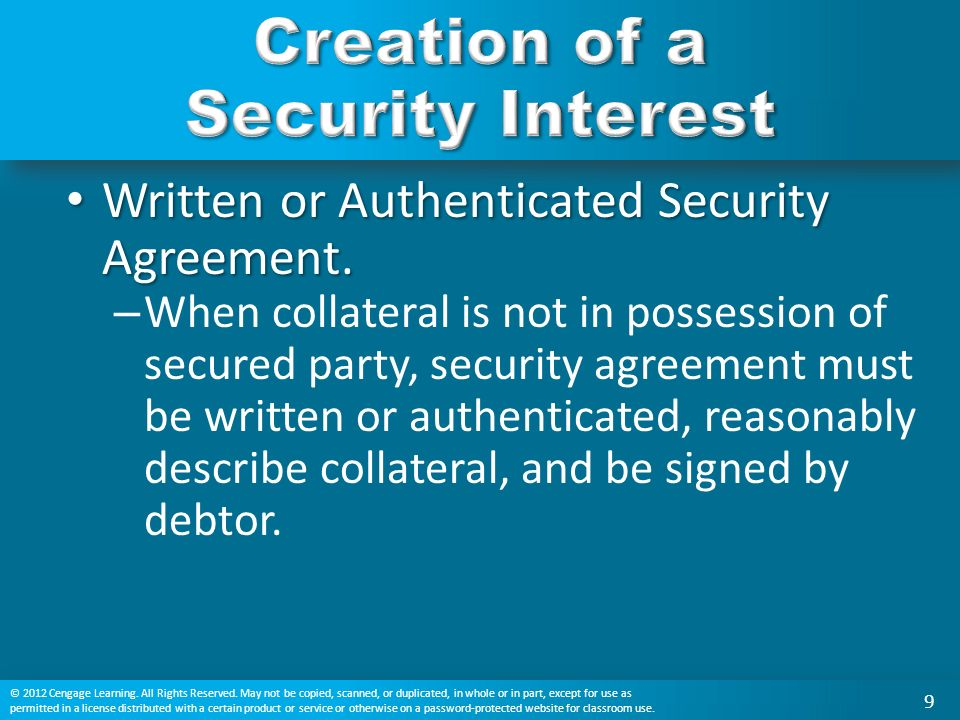 What Is A Security Interest? Who Is A Secured Party? What Is A