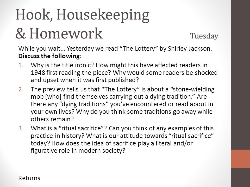 an analysis of traditions in the lottery by shirley jackson