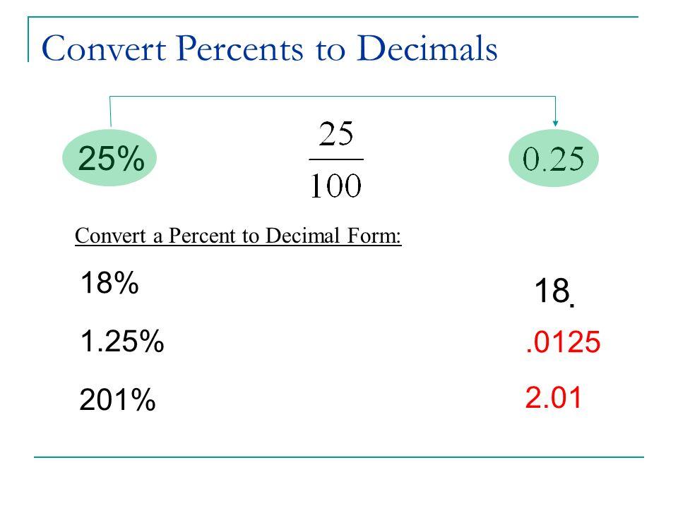 Chapter 3 - Percents. per cent Percents - Definition percent 100 ...