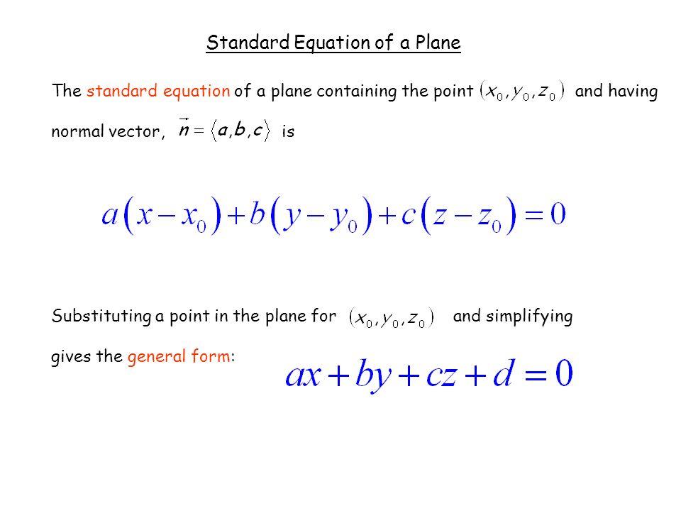 Standard Form Of A Plane Fashionellaconstance
